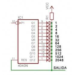Integrated circuit CD4040