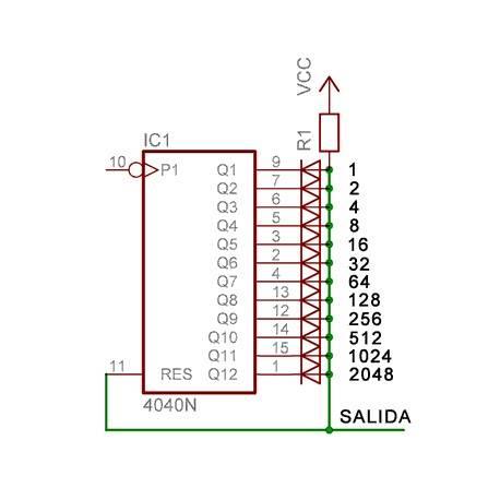 El circuito integrado cd4040