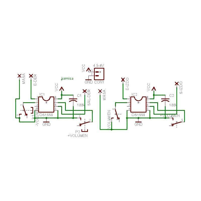 Digital Volume Control Circuit Diagram | Digital Volume Control Circuit