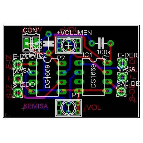 Placa Control Digital de Volumen