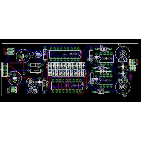 Vu meter stereo circuit