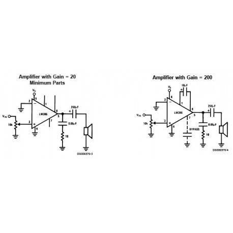 24mW amplifier LM386