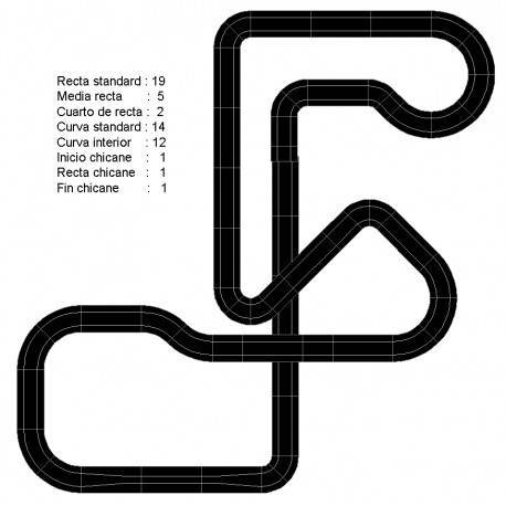 Scalextric circuits for two cars