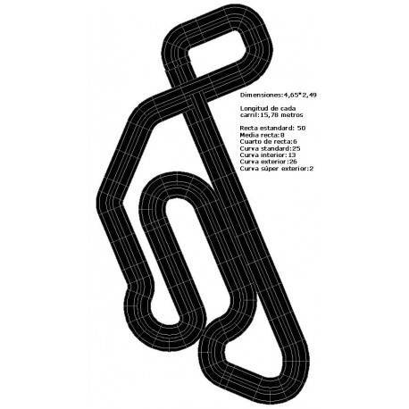 Scalextric circuits for four cars