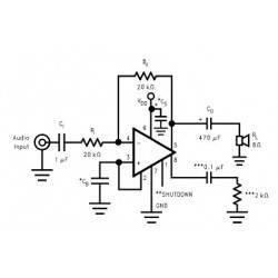 1W amplifier
