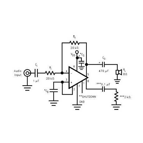 Amplificador 1W