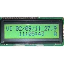 Reloj calendario con alarma y termómetro