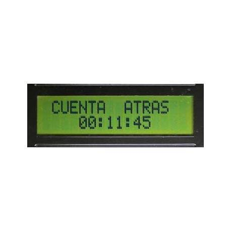 Contagem regressiva com display 2x16 LCD