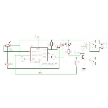 Interruptor de detecção fotossensível