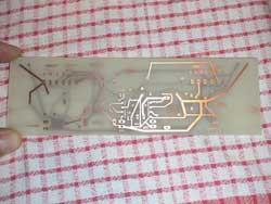 Resultado final de la placa de circuito impreso