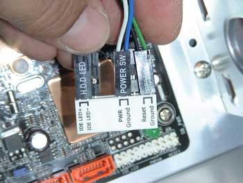 Conector a la placa base asus
