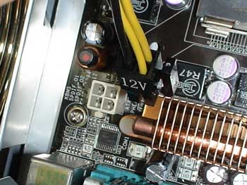 Conector cpu en la placa base