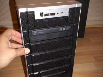 DVD en su sitio en la caja