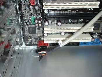 Detalle de la conexión firewire
