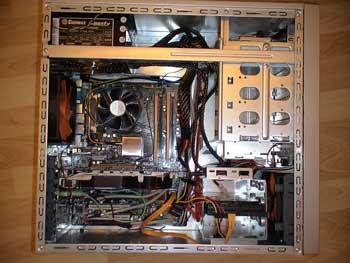 Aspecto del montaje final del ordenador