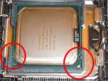 Muescas del procesador