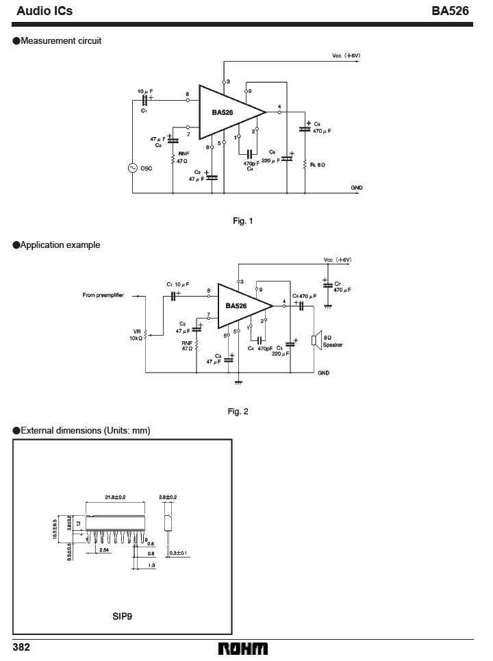 Amplificador de 430 mW BA526