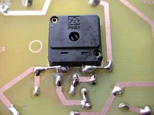 Detalle regulador de luz