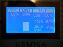 Foto display 128x64 funcionando