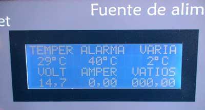 Display lcd multifunción fuente de alimentación 10 amperios
