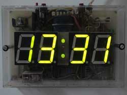 Foto del reloj digital