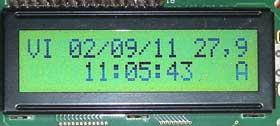 Reloj calendario alarma y trermómetro