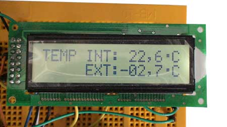 Termómetro interior y exterior funcionando