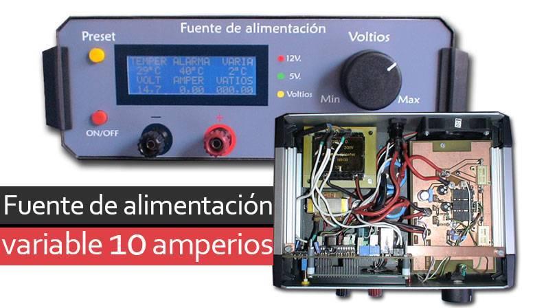 Fuente de alimentación 10 amperios